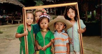 Kayan longneck tribe childern