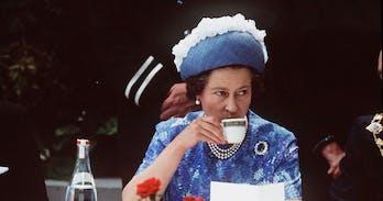 HM Queen Elizabeth II takes tea in Chiang Mai