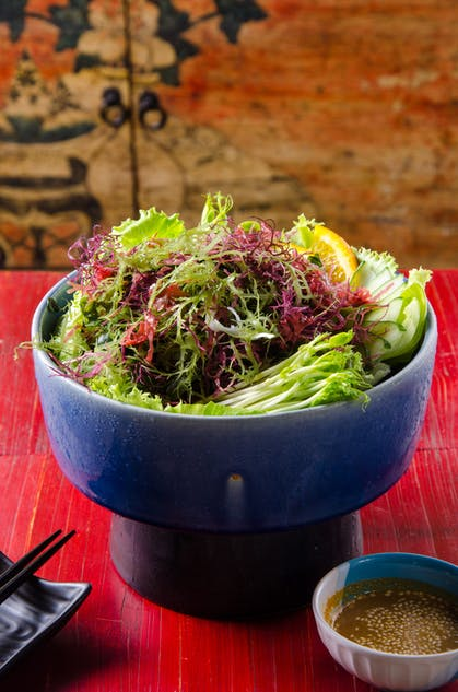 Japanese fresh seaweed salad at Tengoku