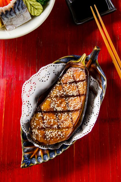Nasu Dengaku rare Japanese dish at Tenkogu