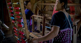 Traditioal weaving in Chiang Mai