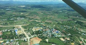 Mae Sot Thailand from the air