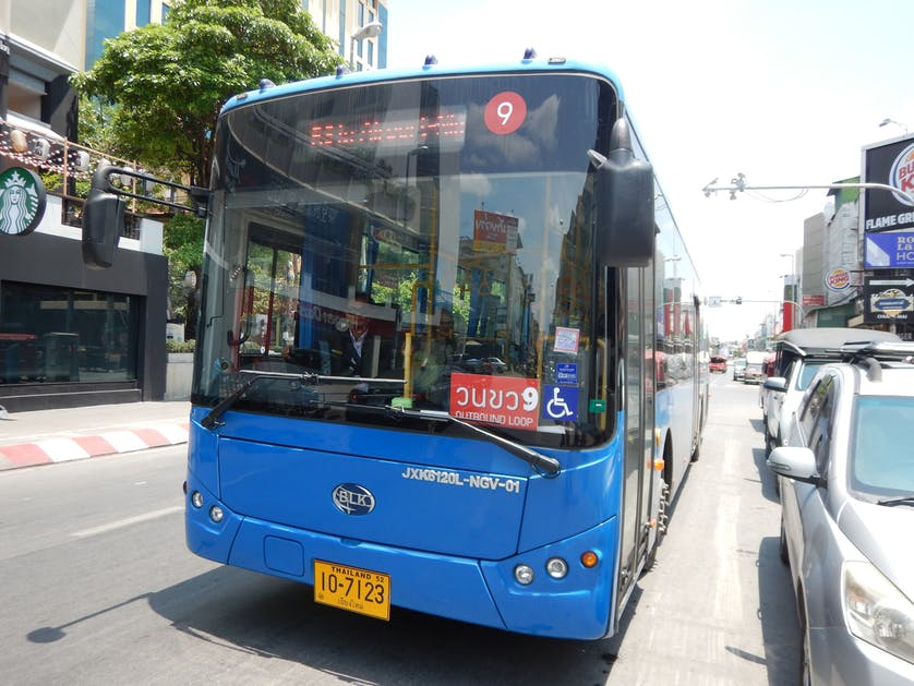 RTC Chiang Mai Smartbus - the blue bus