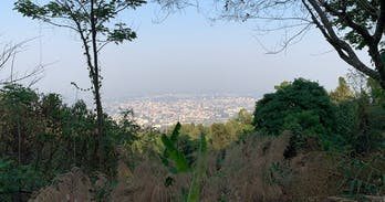 doi suthep in the haze