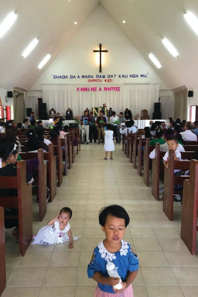 The Kachin celebrate Mothers' Day in church