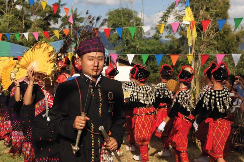 Kachin people celebrate their culture at Baan Mai Samakkhi village in Thailand