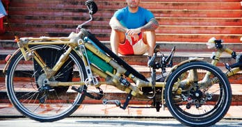 Sustainable Triking on a bamboo bike