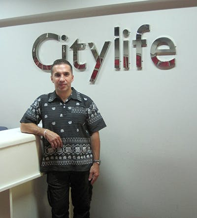 Benny Moafi at the Citylife office in Chiang Mai